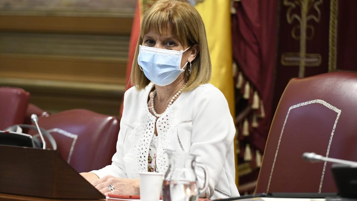 La portavoz económica de Nueva Canarias en el Parlamento, Esther González.
