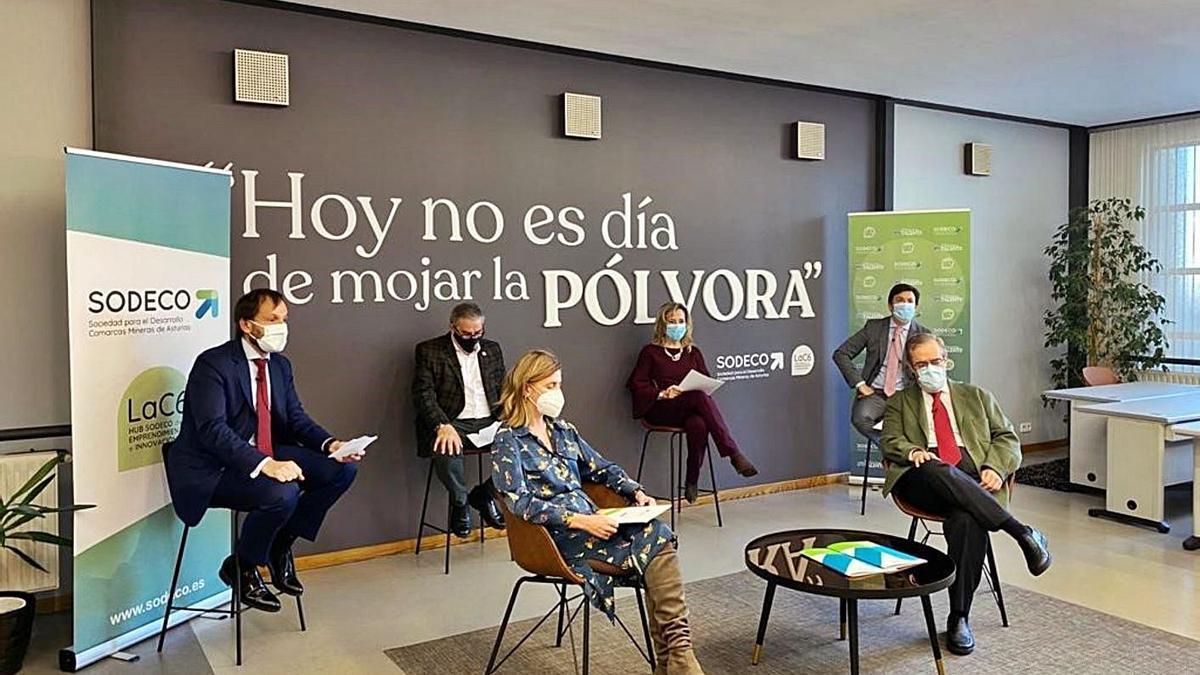 El acto de presentación del acuerdo entre Sodeco y PlayStation, otro de los programas de la Sociedad.   J. Rodríguez