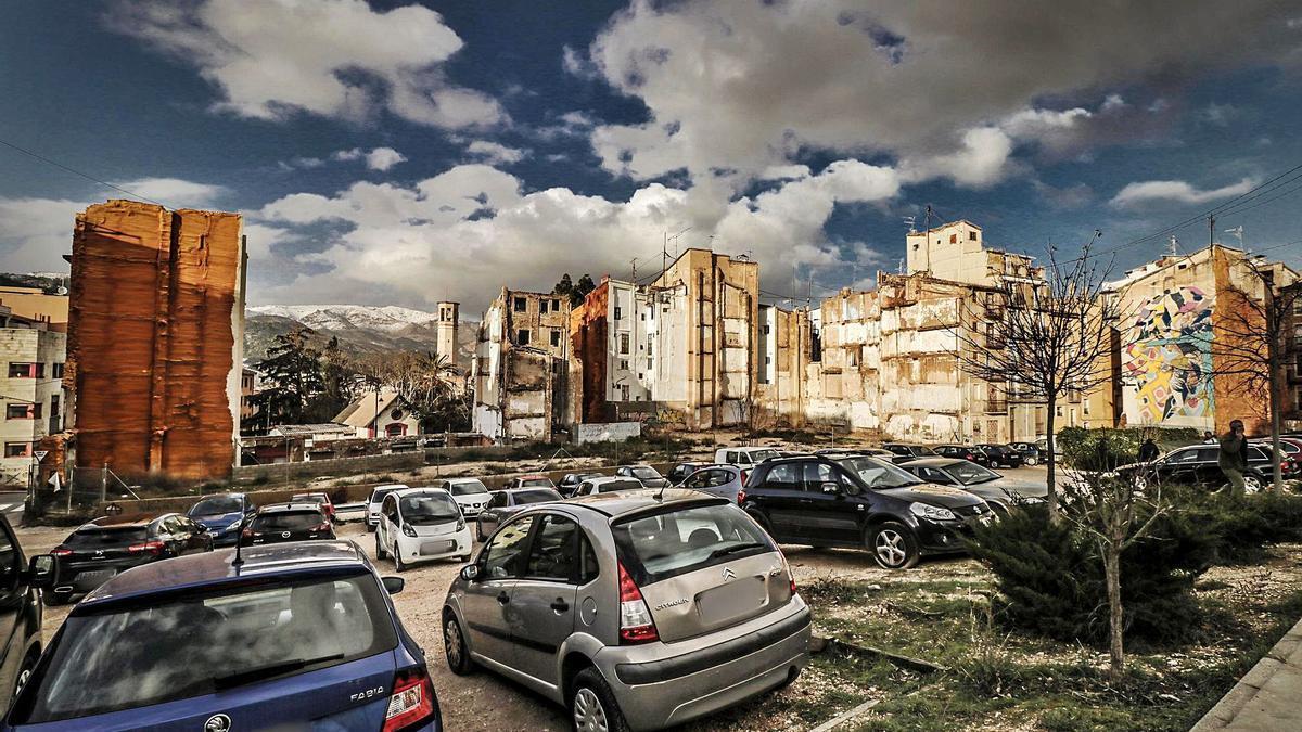 Imagen de parte de la zona de El Partidor, en el centro de Alcoy, donde se invertirán en torno a 4,3 millones de euros.
