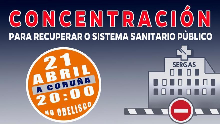 SOS Sanidade Pública convoca concentraciones en Galicia este miércoles
