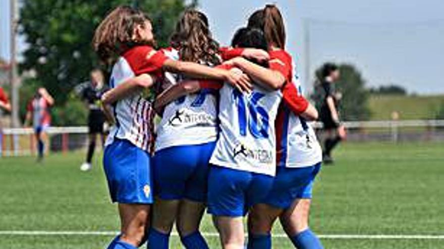 El Sporting Femenino B golea 5-0 al Valladares