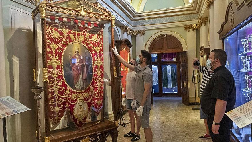 El «Guió de Sant Blai» que Sorolla pintó para Bocairent queda expuesto en Madrid