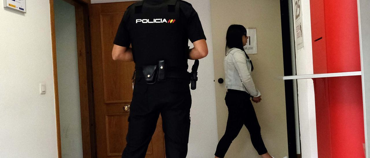 Marta Rama, en una comparecencia en el Juzgado.