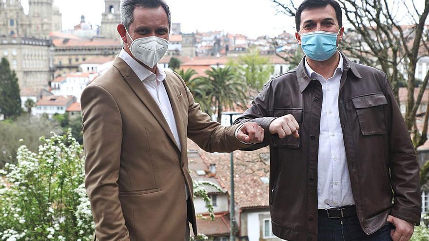 Ferraz y la dirección del PSdeG tratan de dar una imagen de unidad tras el relevo de Losada