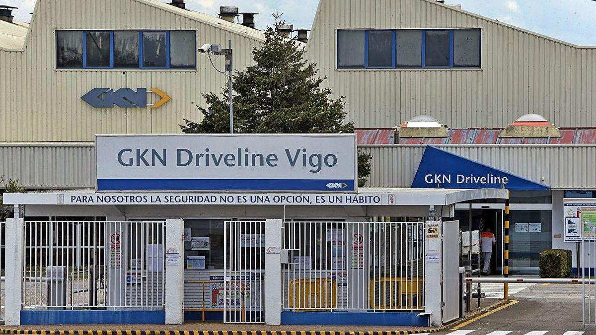 Entrada a la planta de Vigo de la británica GKN Driveline, ahora rebautizada GKN Automotive.