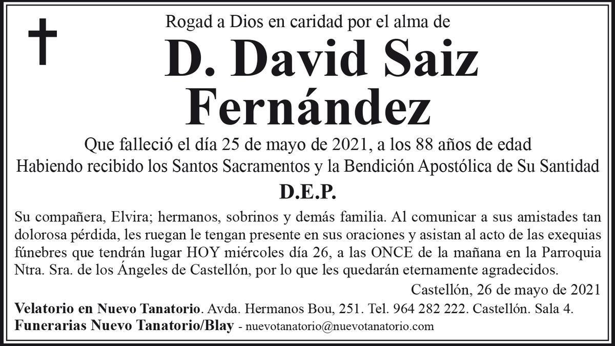 D. David Saiz Fernández