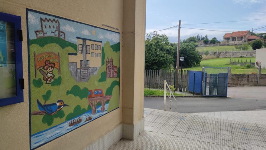 Barriga Verde, homenajeado en el mural del CEIP de Lérez