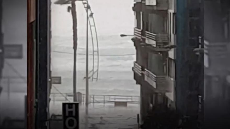Llueve en Las Palmas de Gran Canaria