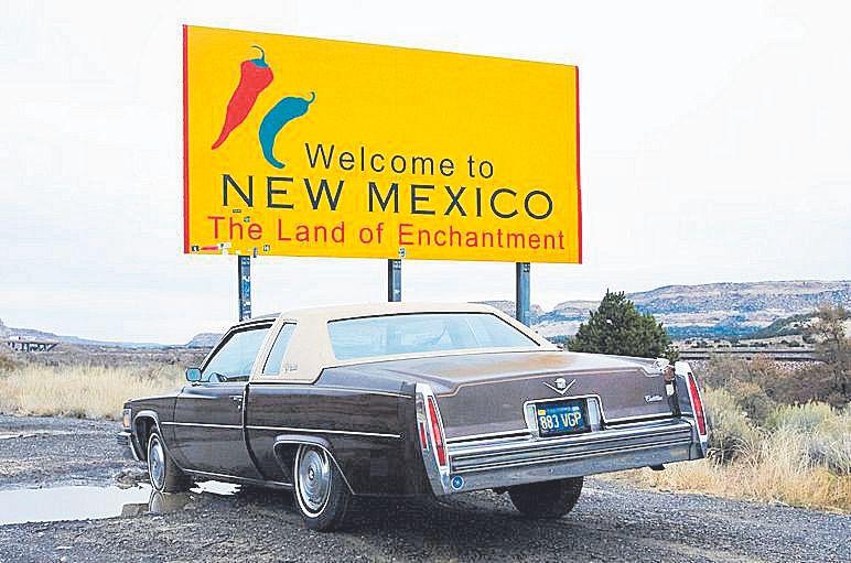 Entrando en el estado de Nuevo México.