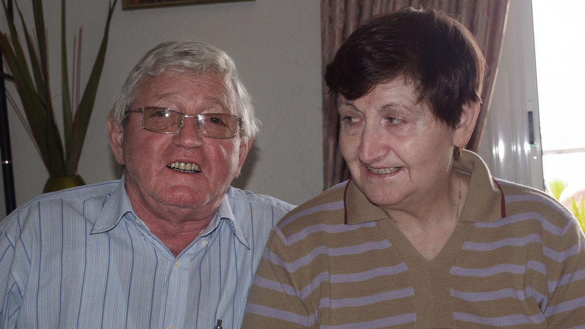 Manuel López Becerra amb la seva dona.
