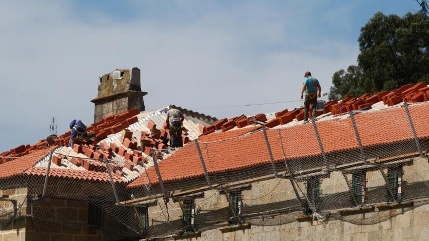 Adiós a las filtraciones de agua del convento de Vista Alegre, principal monumento de Vilagarcía