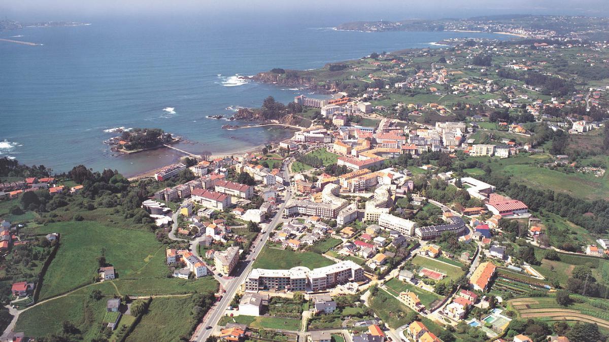 Vistas de la localidad oleirense de Santa Cruz.
