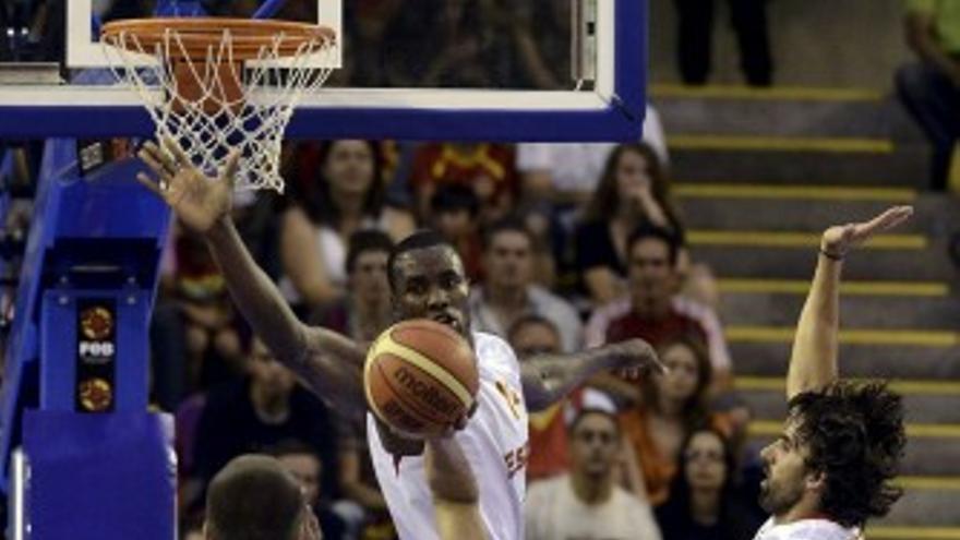 Partido de baloncesto España-Gran Bretaña.