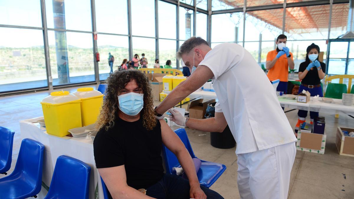 Vacunación en el recinto ferial placentino.