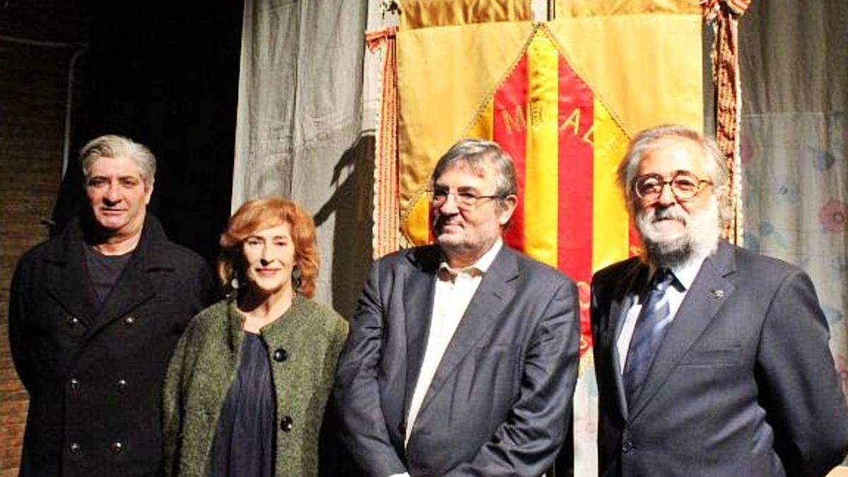Joan Peris, Pilar Almeria, Antoni Furió i Tonetxo Pardiñas. | L-EMV