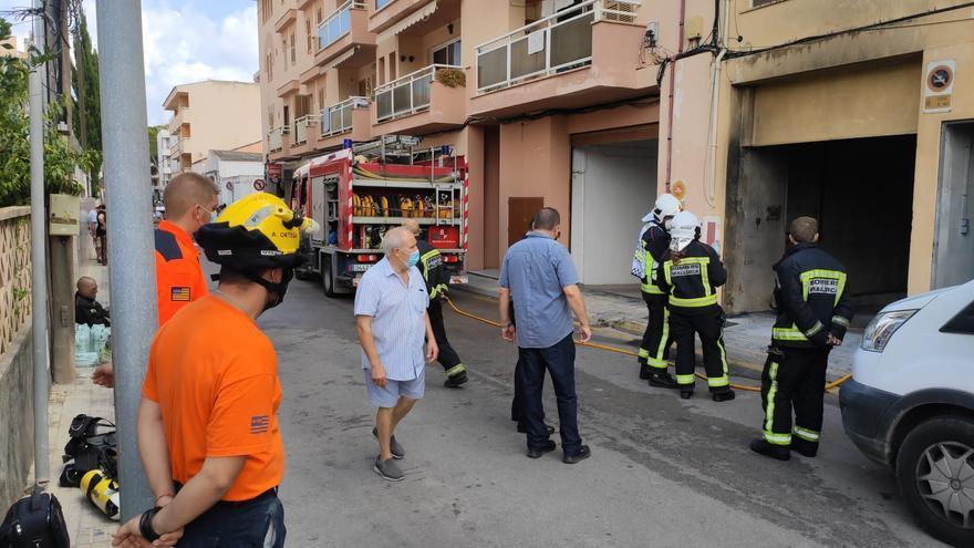 Un herido en un incendio en un aparcamiento subterráneo en Cala Rajada