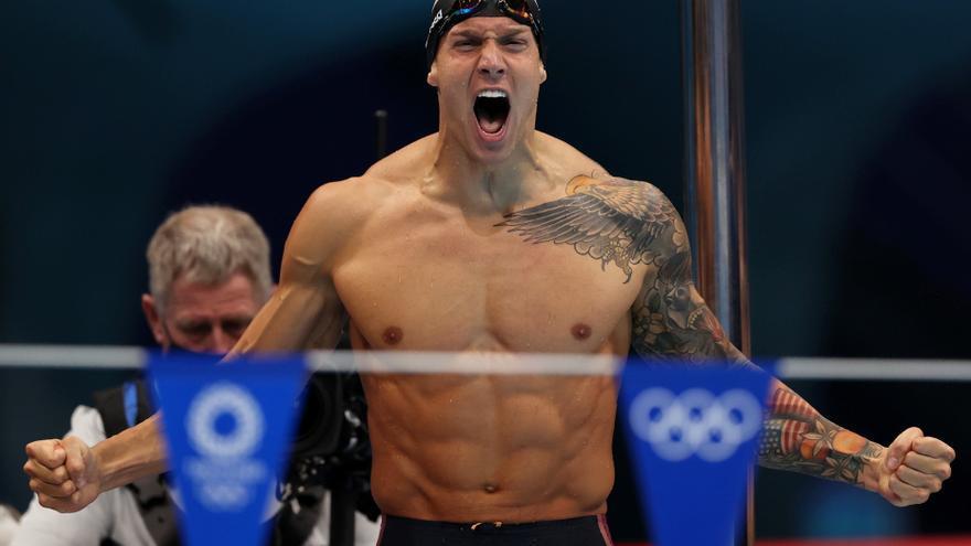 """Dressel, nadador estadounidense medallista de oro: """"En Tokio sentí la magnitud de la presión"""""""