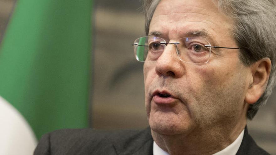 Gentiloni presenta la composición del gobierno provisional de Italia