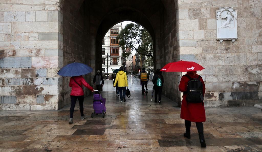 El tiempo en València: Lluvia par empezar el fin de semana