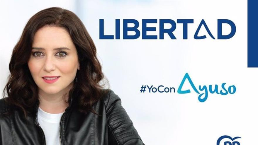 El PP elige 'Libertad' como lema para la campaña electoral en Madrid