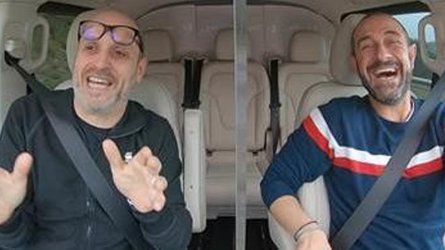 El periodista bagenc Quico Sallés puja «Al cotxe!» amb Eloi Vila