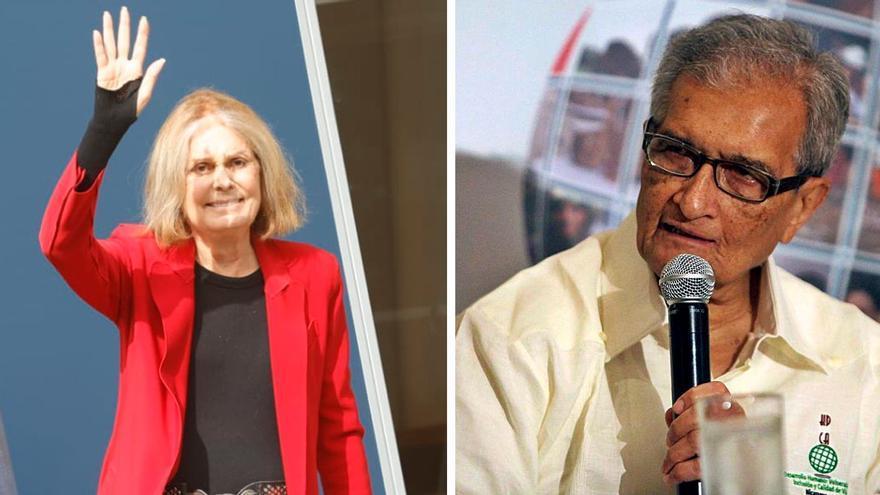 Los 7 parecidos entre Amartya Sen y Gloria Steinem… y las tres diferencias