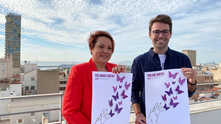 Adrián Pastor gana el concurso del cartel oficial del Día contra la Violencia de Género en Alicante
