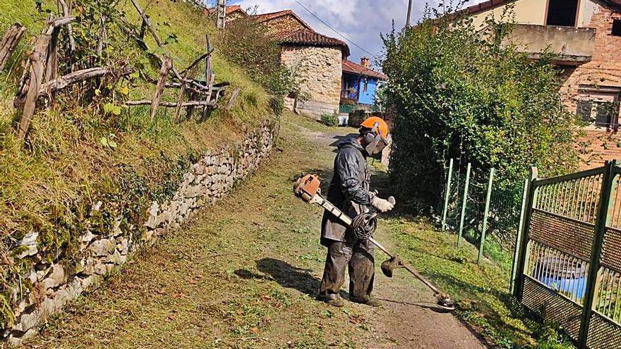 La brigada rural de Laviana inicia su trabajo en tres pueblos del concejo