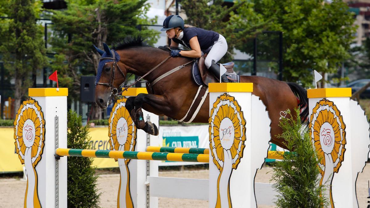 Una imagen de la pasada edición del Gijón Horse Jumping