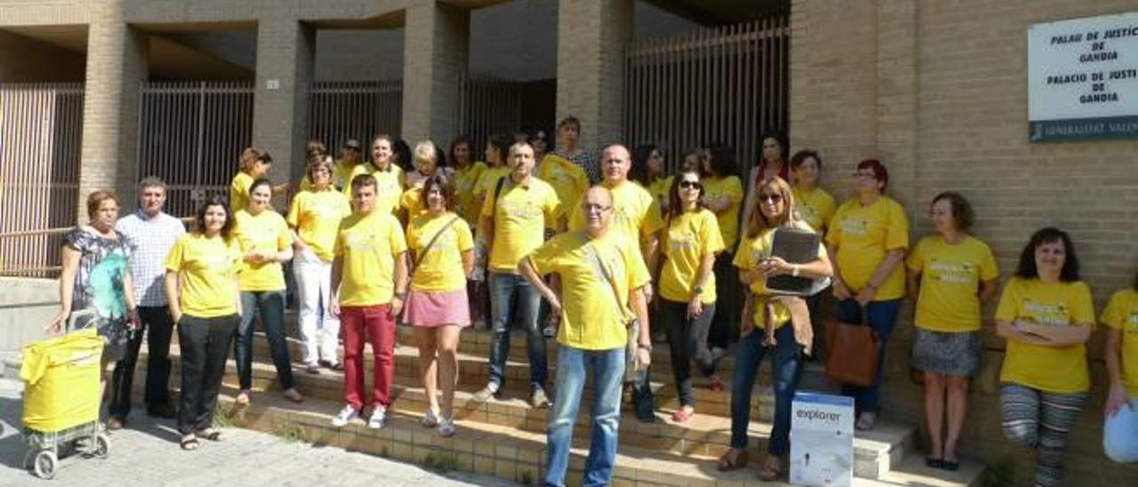 La «marea amarilla» contra Gallardón llega a Gandia