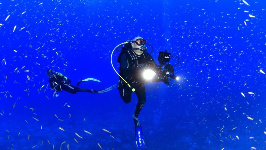 Una pareja de les Coves de Vinromà, plata en las profundidades