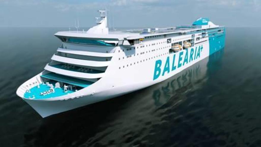 El gas llega a los grandes ferris de Baleària