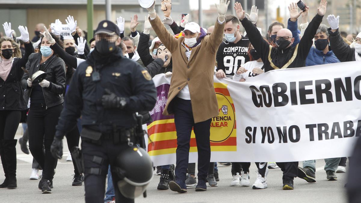 Una protesta de Resistencia balear.