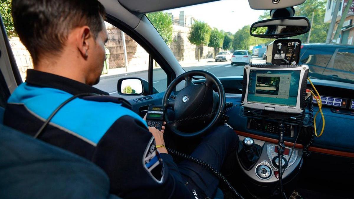 Control de velocidad realizado en Galicia
