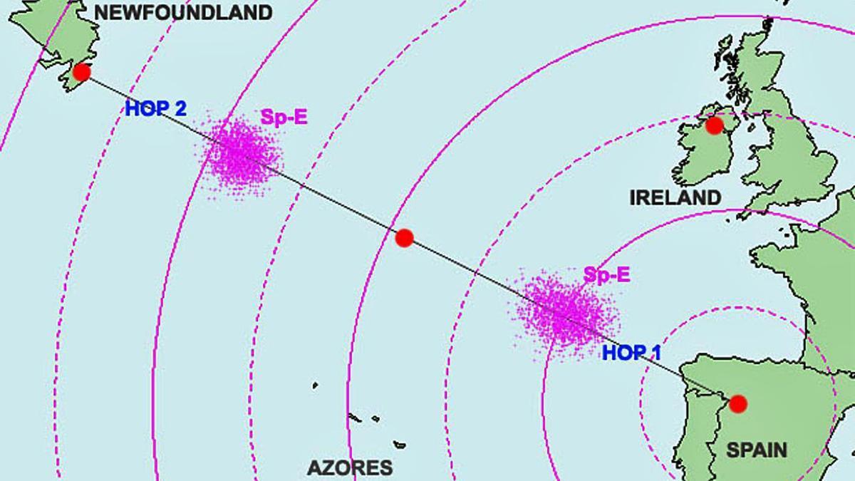 Recepción de la emisión de Radio 5 desde Zamora hasta Canadá.   Imagen tomada del Diario de Radioaficionados