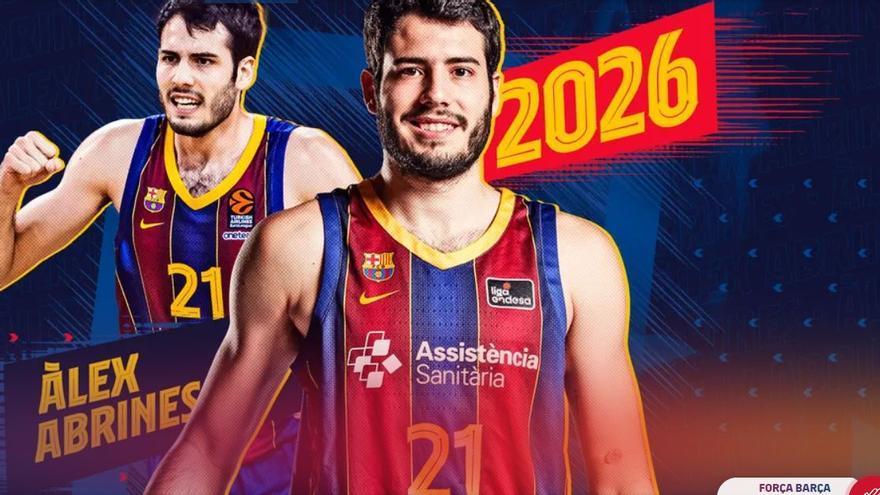 Álex Abrines renueva con el Barça hasta 2026