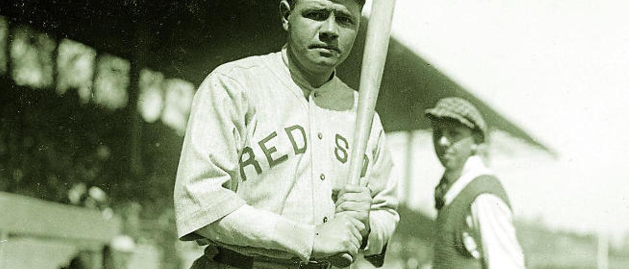 Babe Ruth, durante su última temporada en los Red Sox.