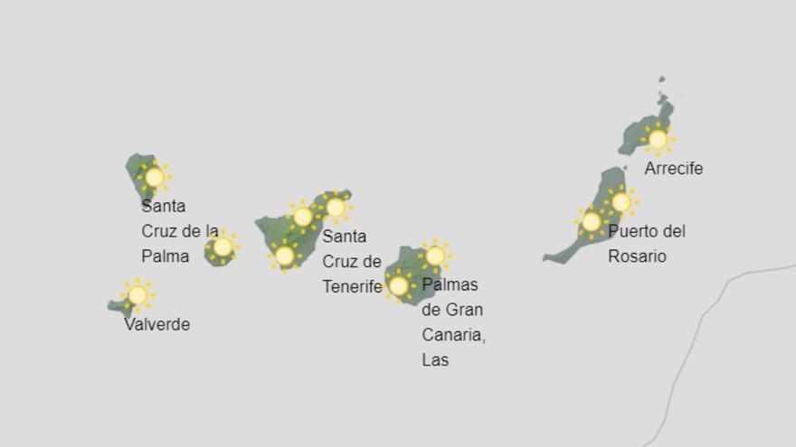 Canarias espera una ligera subida de los termómetros este lunes