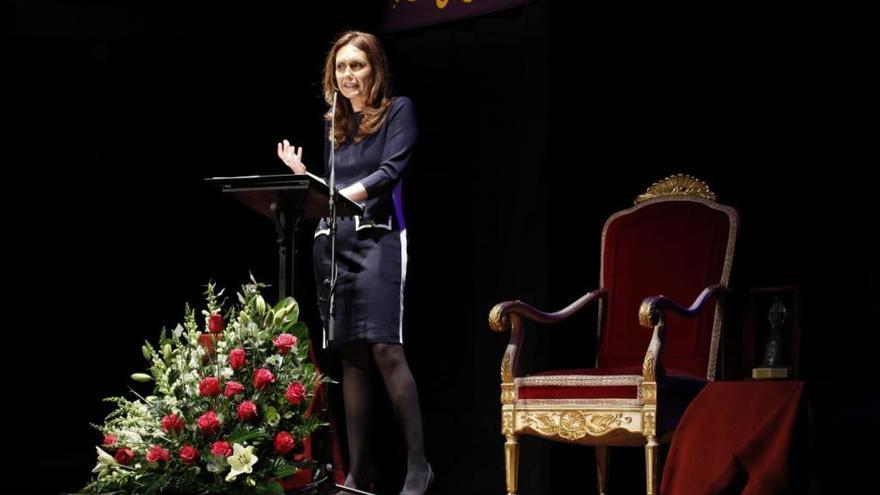 Eva Crespo durante el pregón oficial de la Semana Santa de Zamora 2019.