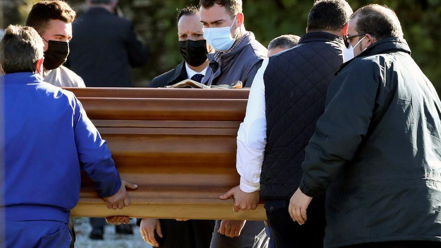 Entierro de Rosario Porto en el cementerio de Boisaca