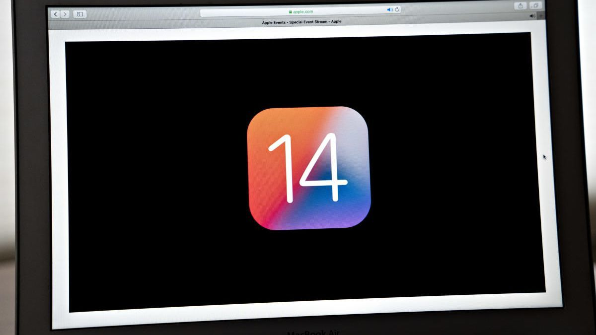 Un logo de iOS 14 publicado por Apple.