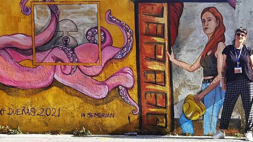 L'artista martorellenca Mho Dueñas participa en el festival artístic Las Meninas de Canido