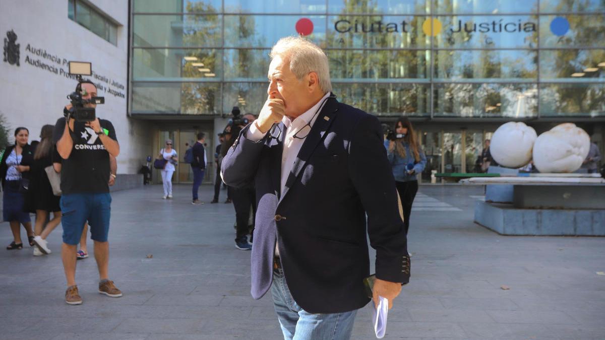 Alfonso Rus en la Ciudad de la Justicia en una foto de archivo.