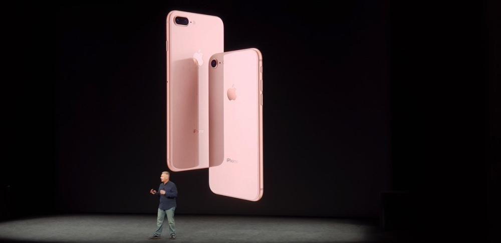 Los nuevos i Phone8 en el nuevo color dorado.