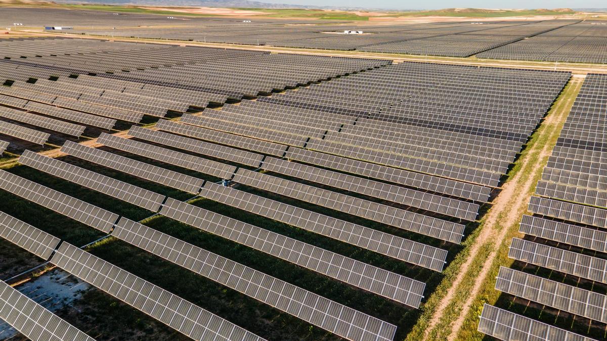 Un parque fotovoltaico de Lightsource BP situado en Aragón que ya está operativo.