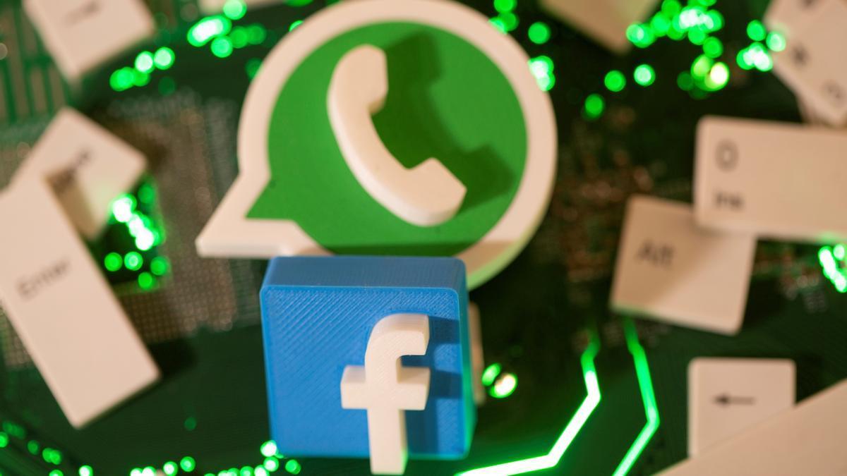 Facebook and WhatsApp logos