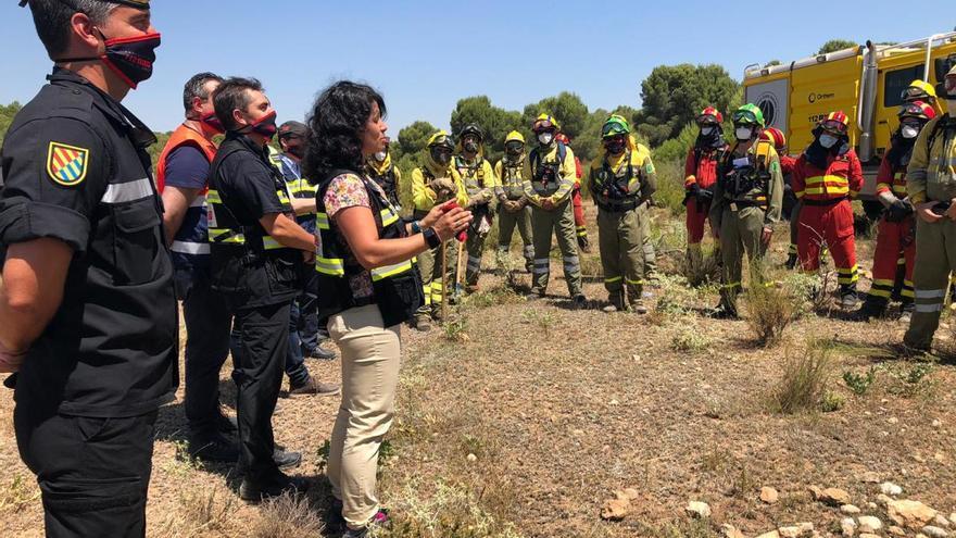 Cien efectivos 'luchan' contra el fuego en la Sierra de la Muela