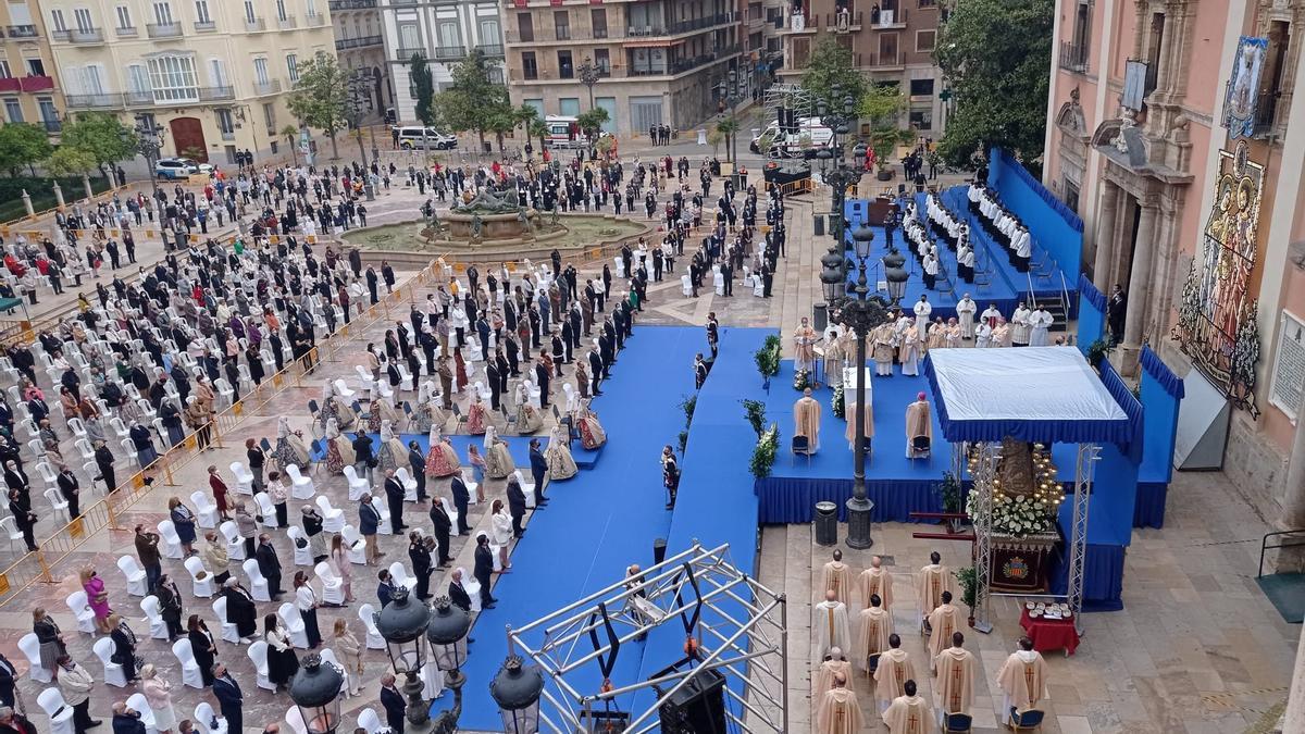 Vista general de la Missa d'Infants, celebrada con medidas de seguridad.