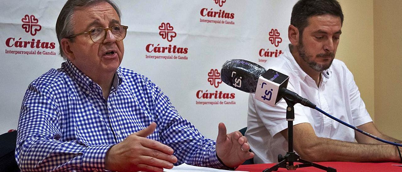 Francisco Carrió y Jesús Mollà, ayer durante la rueda de prensa.   DANI MONLLOR