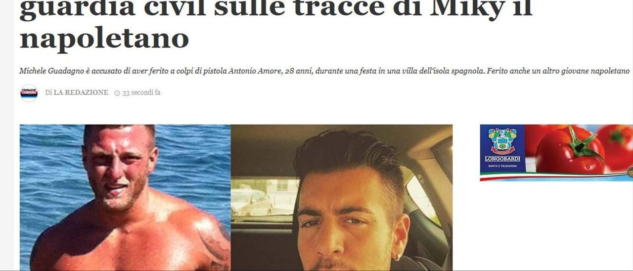 Noticia publicada en un medio italiano